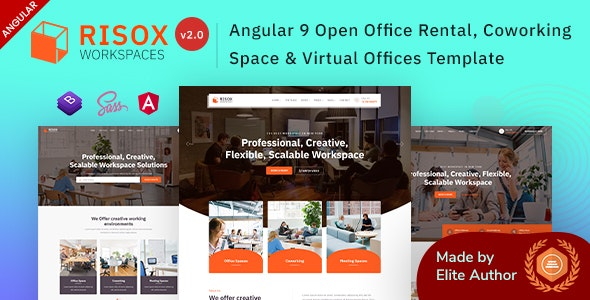 Risox - Angular 9 Office & Commercial Space - Business Corporate