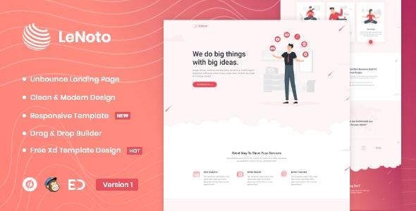 LeNoto - Isometric Business Unbounce Landing Page - Unbounce Landing Pages Marketing