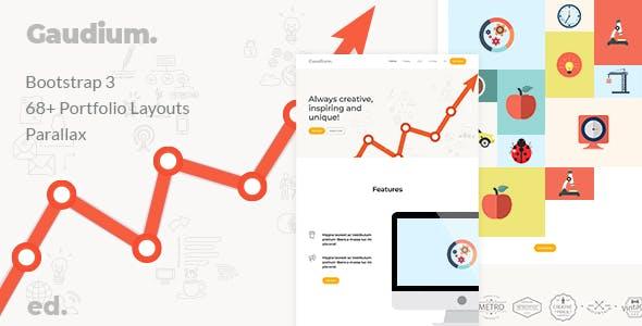 Gaudium - Bootstrap 3 Multi-Purpose Template