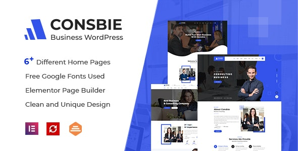Consbie - Business & Consulting Elementor WordPress Theme - Business Corporate