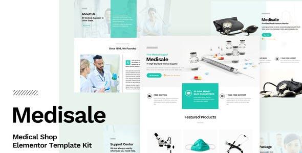 Medisale - Medical Shop Elementor Template Kit