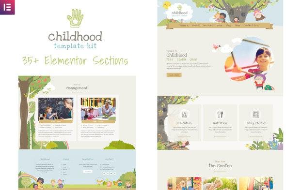Childhood Kids - Child Care Center Elementor Template Kit - Kids & Babies Elementor