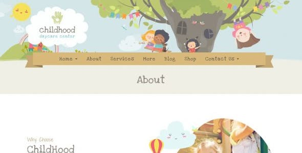 Childhood Kids - Child Care Center Elementor Template Kit