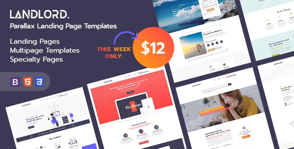 Landlord - Parallax Landing Page Templates - Landing Pages Marketing