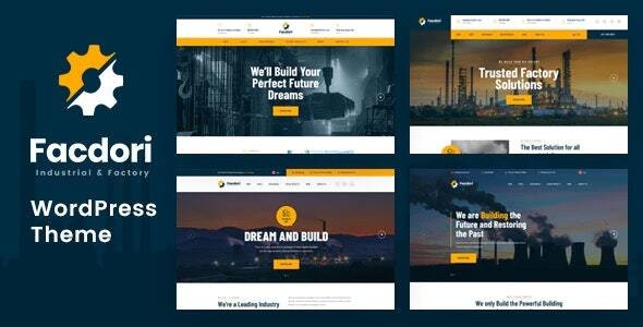 Facdori - Factory and Industrial Business WordPress Theme - Business Corporate
