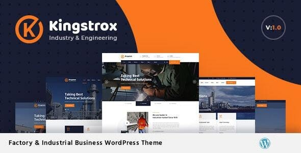 Kingstrox - Factory and Industrial Business WordPress Theme - Business Corporate