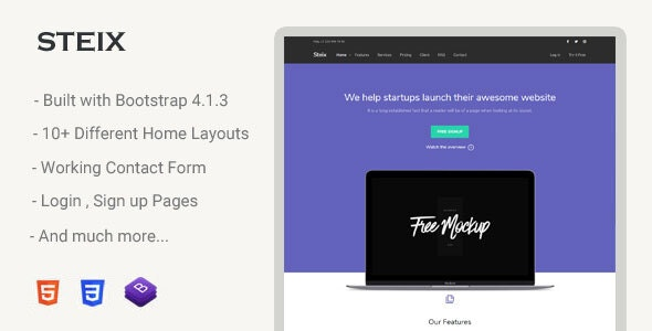 Steix - Landing Page Template - Landing Pages Marketing