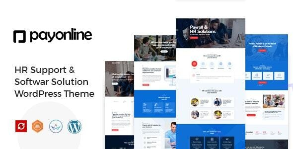 Payonline - Online Payroll and HR Software WordPress Theme - Business Corporate