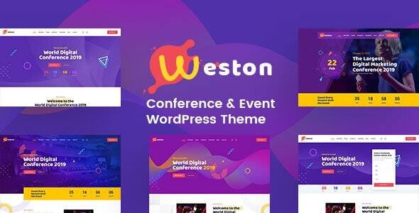 Weston - Conference & Event WordPress Theme - Events Entertainment