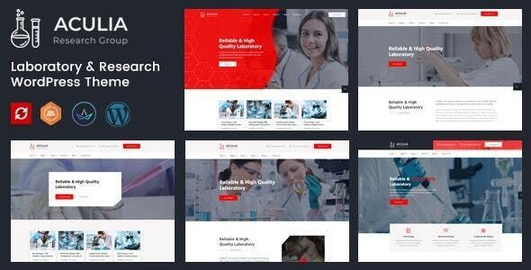 Aculia | Laboratory & Research WordPress Theme - Business Corporate