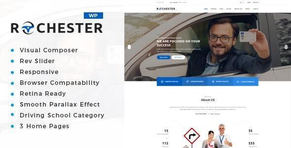 Rochester - Driving School WordPress Theme - Business Corporate