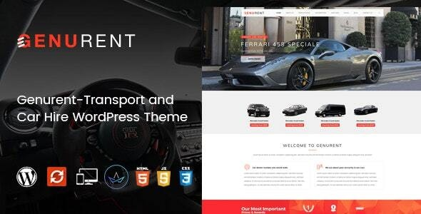 Genurent - Transport and Car Hire WordPress Theme - Travel Retail