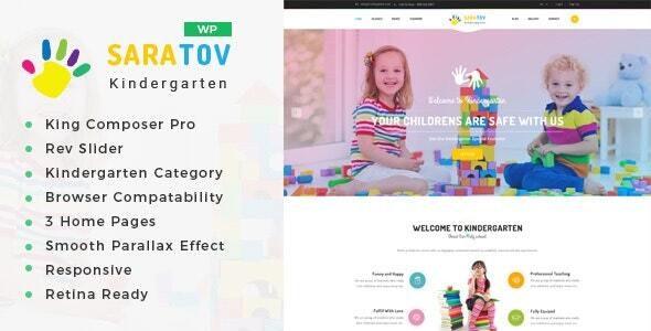 Saratov - Day Care & Kindergarten School WordPress Theme - Education WordPress