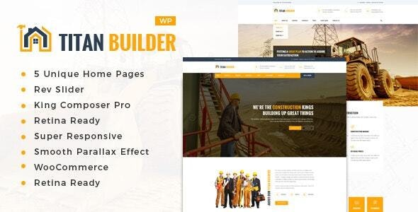 Titan Builders : Construction WordPress Theme - Business Corporate