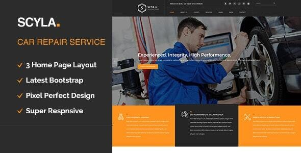 Scyla || Auto Mechanic & Car Repair WordPress Theme - Business Corporate