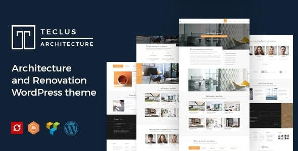 Teclus - Architecture and Renovation WordPress theme - Business Corporate
