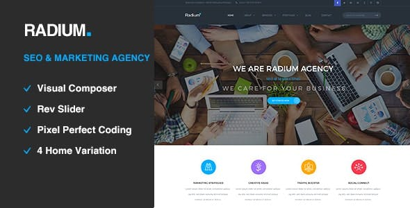 Radium - SEO /Digital Agency WordPress Theme