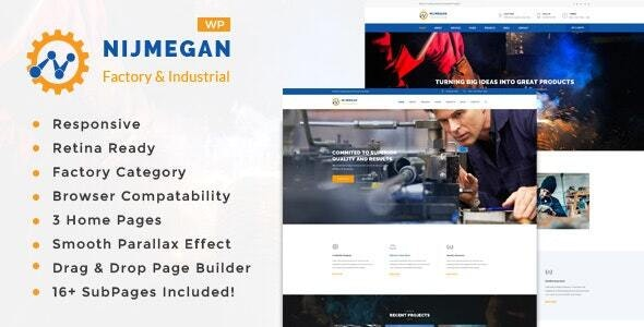 Nijmegan - Factory and Industrial Business WordPress Theme - Business Corporate