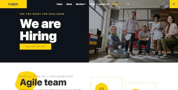 Faber - Tech Company Elementor Template Kit