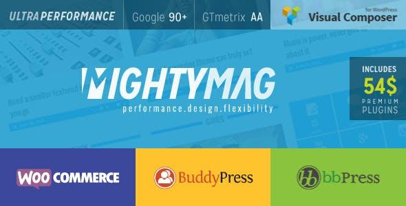 MightyMag - Magazine, Shop, Community WP Theme
