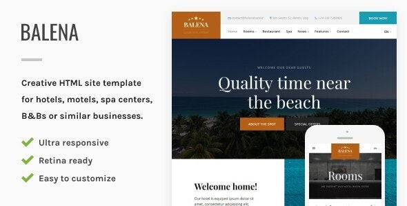 Balena - Hotel HTML Site Template - Travel Retail