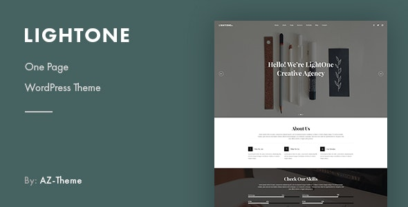 LightOne - Onepage Parallax WordPress Theme - Creative WordPress