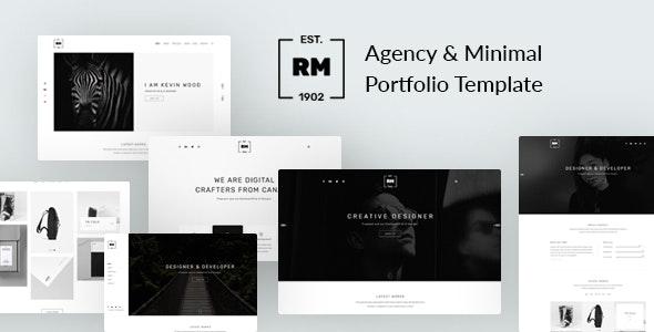 RM - Agency & Minimal Portfolio Template - Portfolio Creative