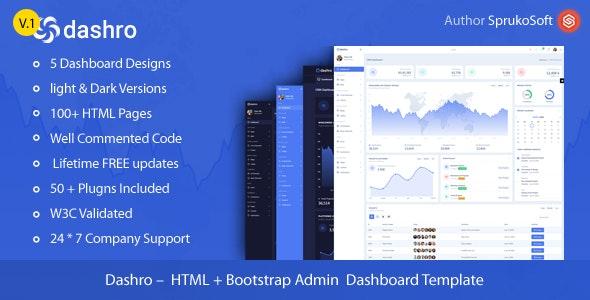 Dashro –  HTML Bootstrap Admin Template - Admin Templates Site Templates