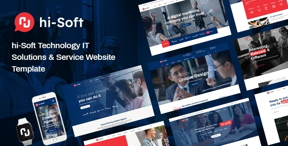 hi-Soft - IT Solutions and Services Company HTML5 Template - Business Corporate