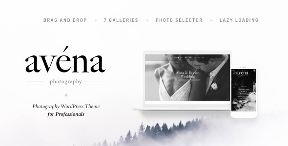 Avena - Photography WordPress for Professionals - Photography Creative