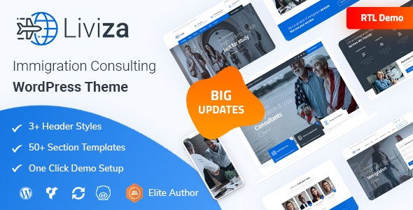Liviza - Immigration Consulting WordPress Theme - Business Corporate
