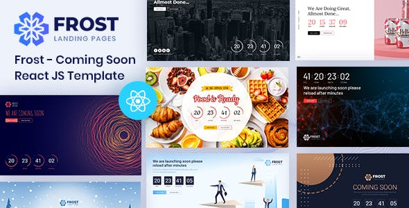 Download Frost - Coming Soon, Under Construction React Template