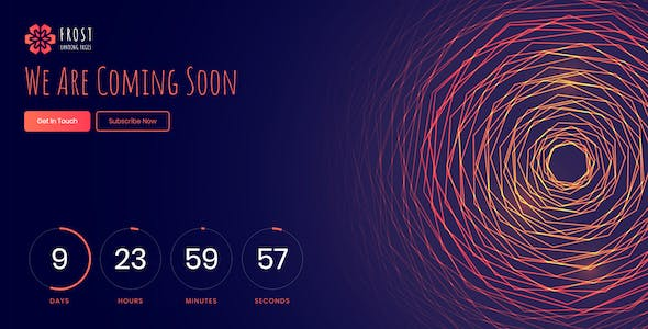 Frost - Coming Soon, Under Construction React Template