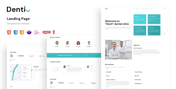 Denti - Landing Page Template - Landing Pages Marketing