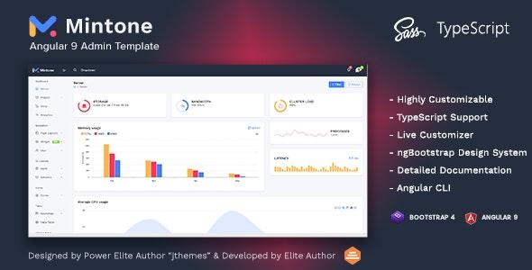 Mintone - Angular 9 Admin Template - Admin Templates Site Templates