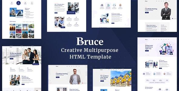 Bruce - Creative Multipurpose HTML Template - Creative Site Templates