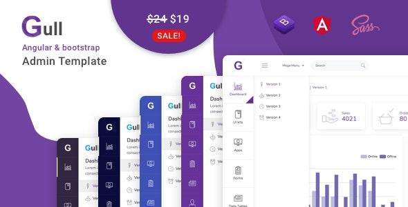 Gull - Angular 9+ Bootstrap 4 Admin Dashboard Template - Admin Templates Site Templates
