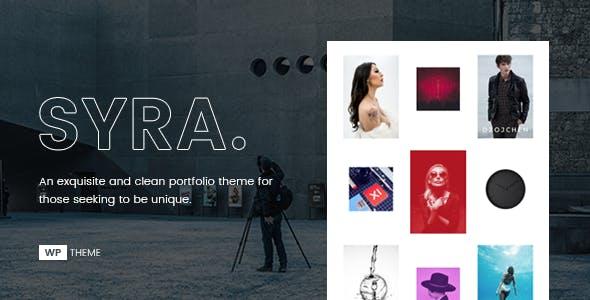 Syra – Minimal Showcase Portfolio WordPress Theme