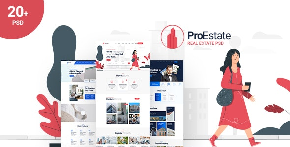 ProEstate - Real Estate PSD Template - Business Corporate