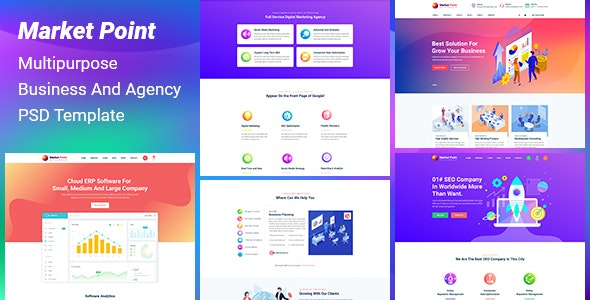 MarketPoint - Multipurpose  Business And Agency  PSD Template - Corporate PSD Templates