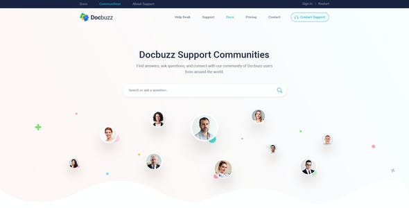Docbuzz - Documentation And Knowledge Base PSD Template