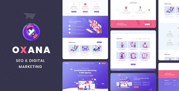 Oxana - SEO & Digital Marketing HTML Template - Marketing Corporate