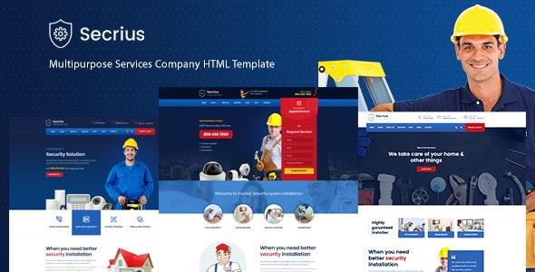 Secrius - Multipurpose Services Company HTML Template - Electronics Technology
