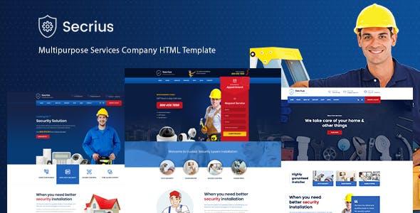 Secrius - Multipurpose Services Company HTML Template