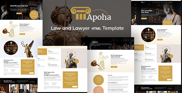 Apoha - Law and Lawyer HTML Template - Corporate Site Templates