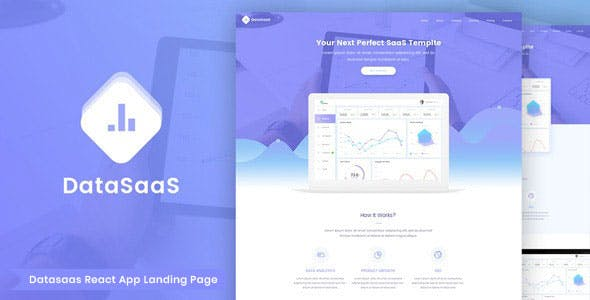 Datasaas - React Apps Landing Template