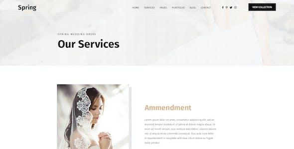 Spring - Wedding Dress HTML Template