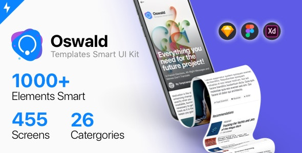 Oswald - Templates Smart UI Kit - Sketch Templates
