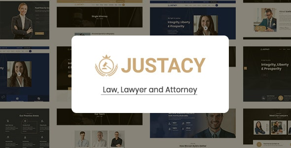 Justacy - Law, Lawyer and Attorney HTML Template - Business Corporate
