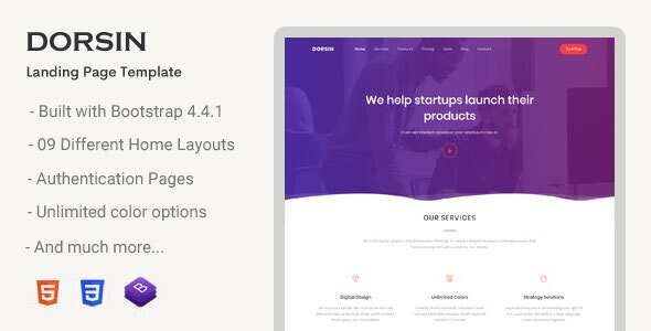 Dorsin - Landing Page Template - Landing Pages Marketing